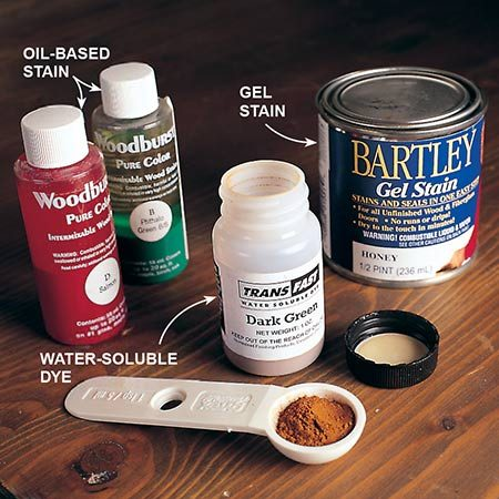 Oil, gel and water-soluble stains