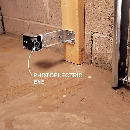 Photoelectric eye for garage door.
