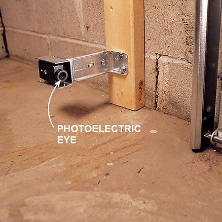 Photoelectric eye for garage door.
