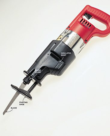 <b>The best demolition tool ever</b></br> <p>Reciprocating saws, introduced in 1951, quickly became favored tools of contractors. Many of today's saws have big 10-amp motors, variable speeds, no-wrench blade changing and 1-1/4 in. cutting strokes.</p>