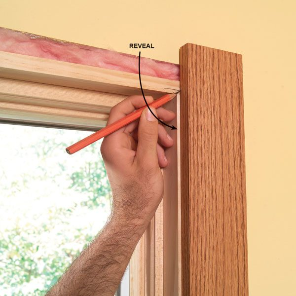 <b>Don't try to get the trim flush with jambs</b></br> <p>Leave a  space (reveal)   alongside  moldings. It'll   give you a  little fudge factor   and looks  better than   trying to  get trim flush   with jambs. </p>