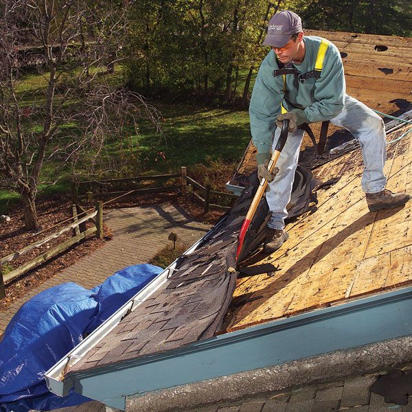 <b>Anticipate bad weather to prevent leaks</b></br> <p>What will  you do if you tear off the  shingles and a storm pops up? At  least if you have a plastic tarp that's  large enough to cover the  roof, you'll have a fighting  chance of keeping your house dry. </p>