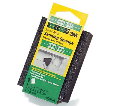 <b>Photo 3A: Sanding sponge</b></br> Sanding sponges work great for sanding trim with contours and corners.