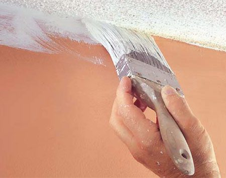 <b>Photo 9: Paint the ceiling edge</b></br> Cut in the perimeters of ceilings with ceiling white and a 3-in. brush. Don't worry if you lap over onto the wall. Roll on a second coat of ceiling paint in the opposite direction of the first coat.