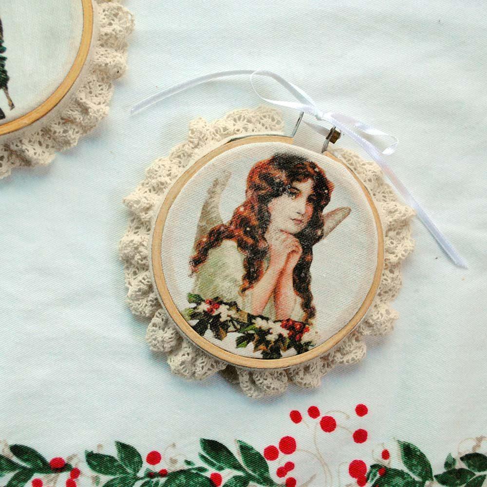 Victorian Image Transfer Ornaments