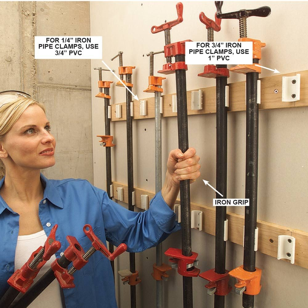 PVC Pipe Clamp Rack