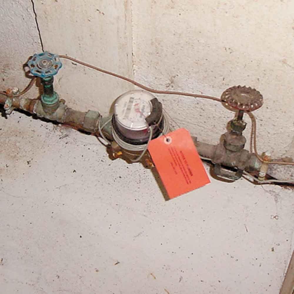 Locate your home's main water shutoff valve.