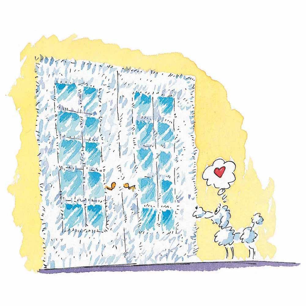 Fuzzy French Doors