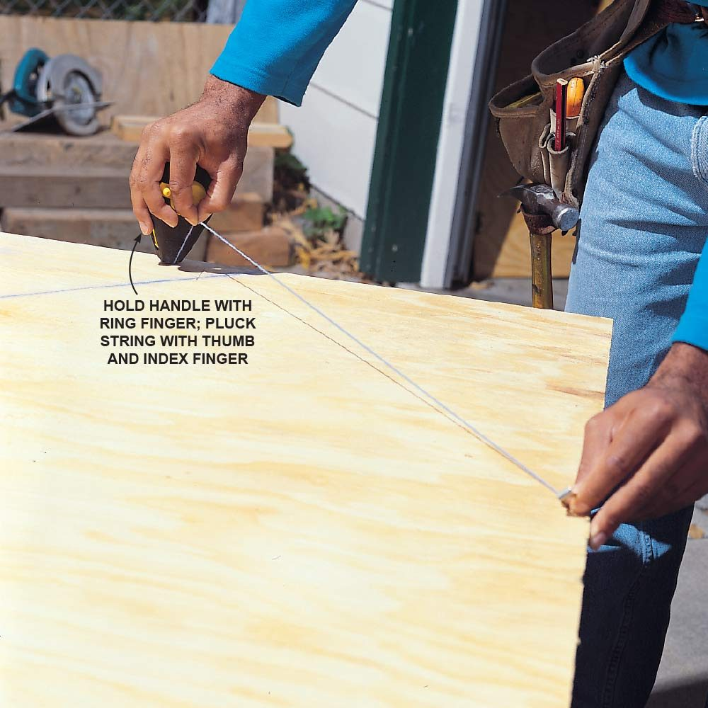 How to Snap a Chalk Line By Yourself