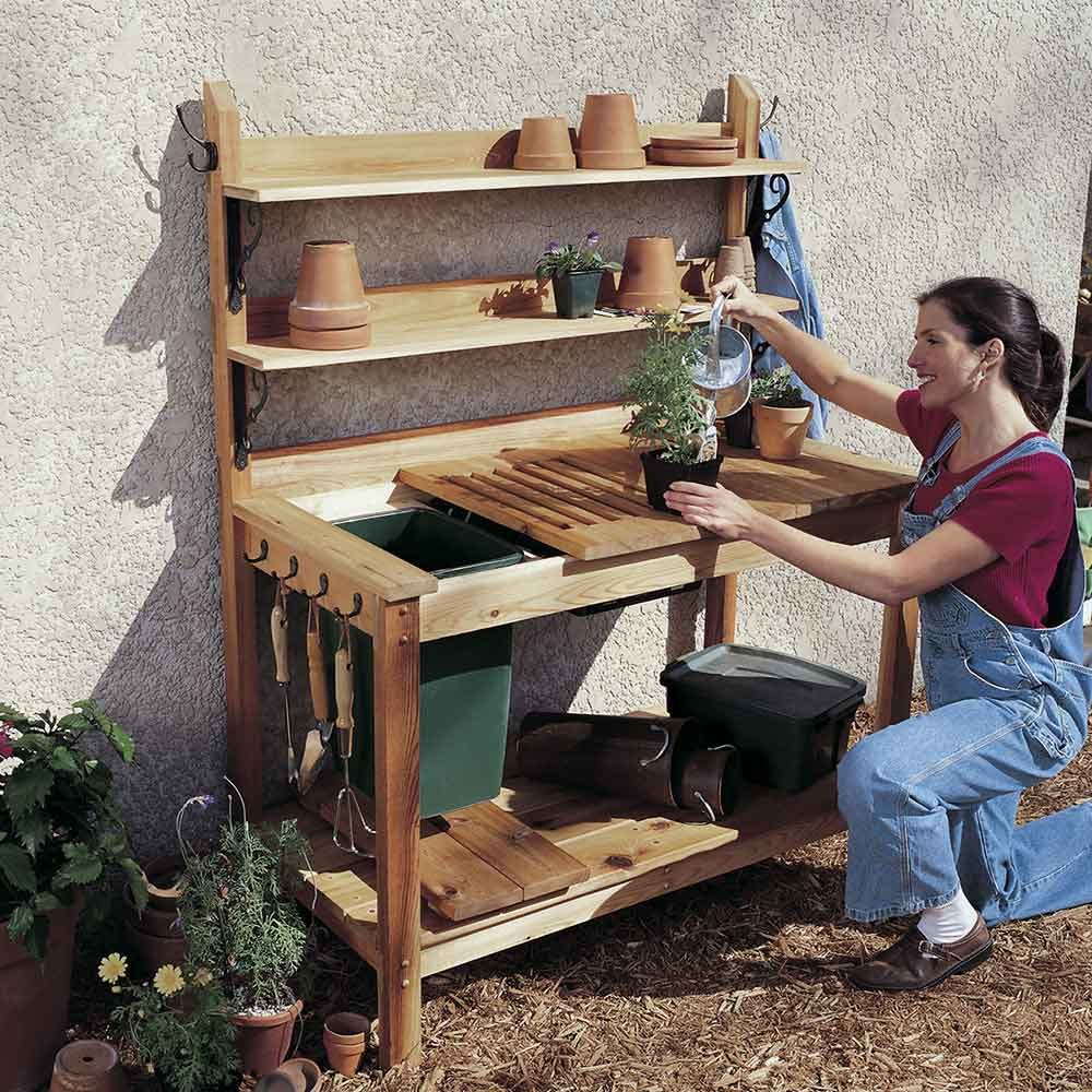 Cedar Potting Bench