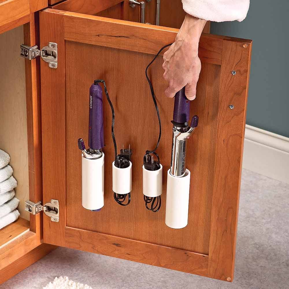 Over The Cabinet Basket 18 Inspiring Inside Cabinet Door Storage Ideas The Family Handyman