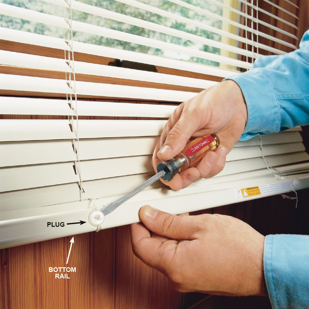 Shorten Horizontal Blinds