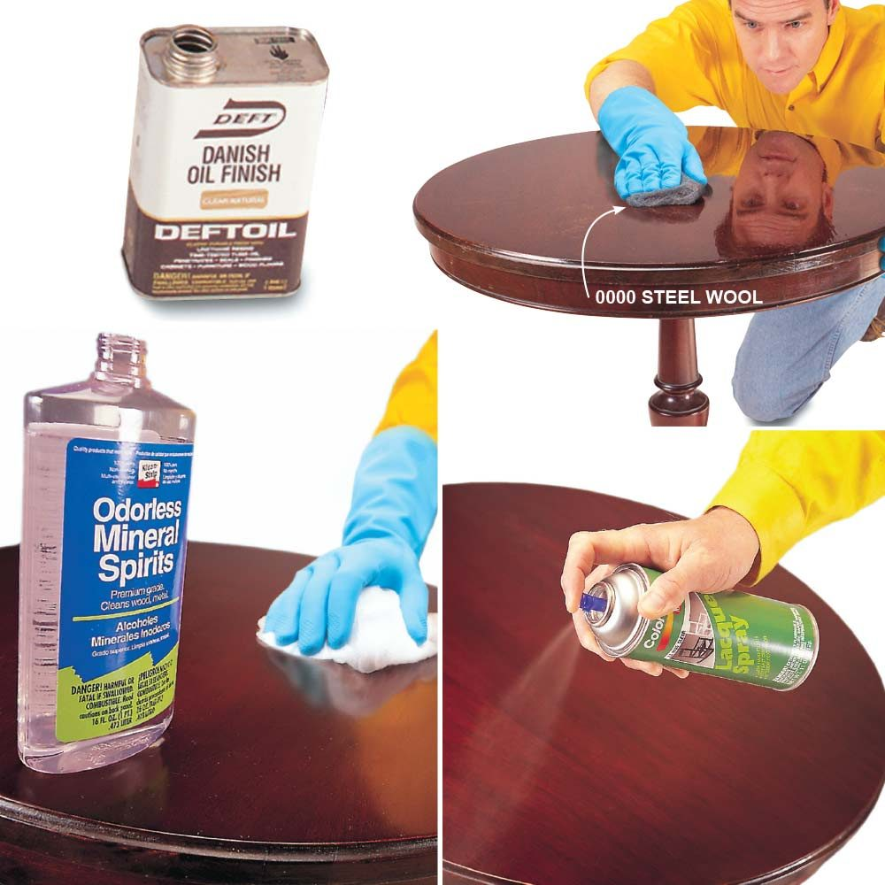 Wipe Away Scratches and Recoat the Surface