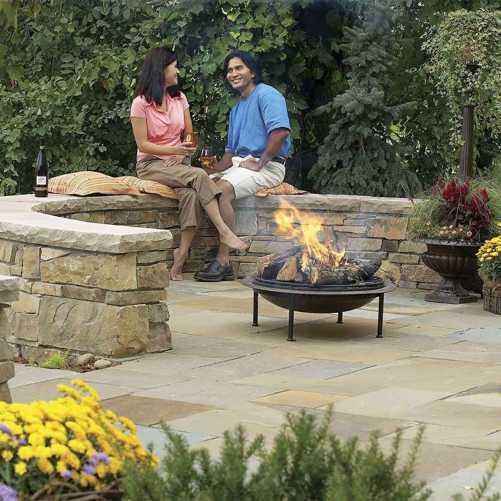 Flagstone and Stone Block Patio