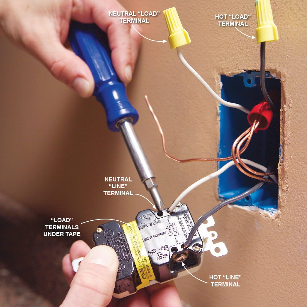 top 10 electrical mistakes the family handyman mistake 10 wiring a gfci backward