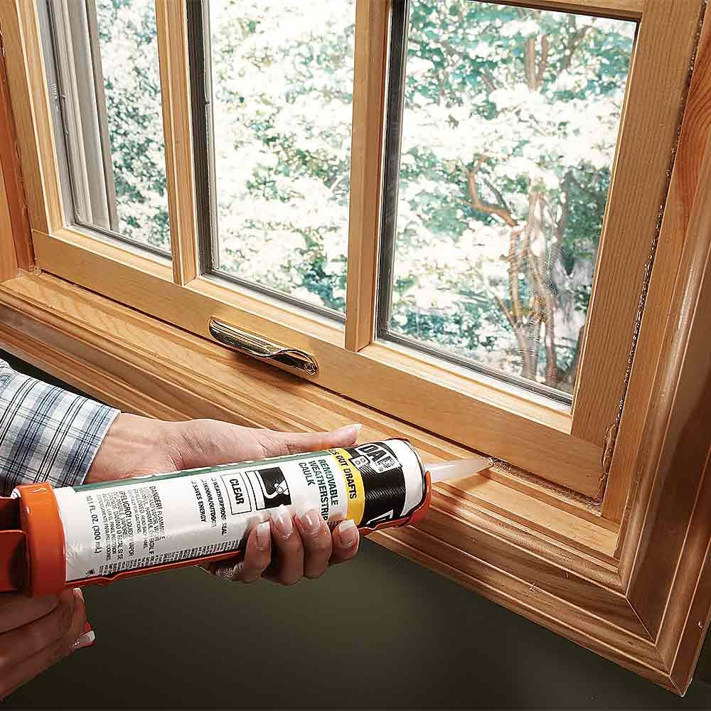 Seal Windows with Removable Caulk