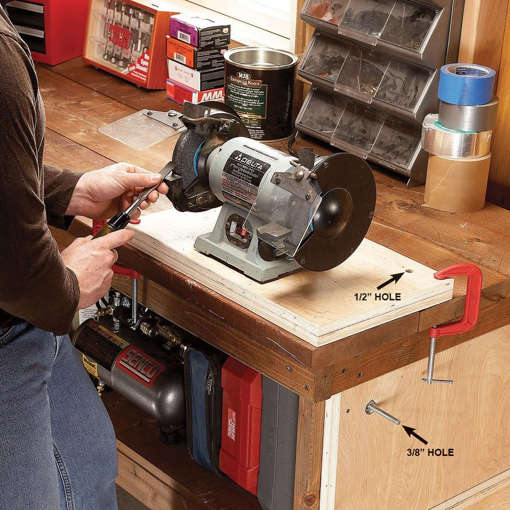 Benchtop space-saver: Removable mounting boards