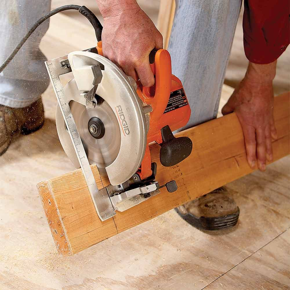 Your Foot as a Sawhorse