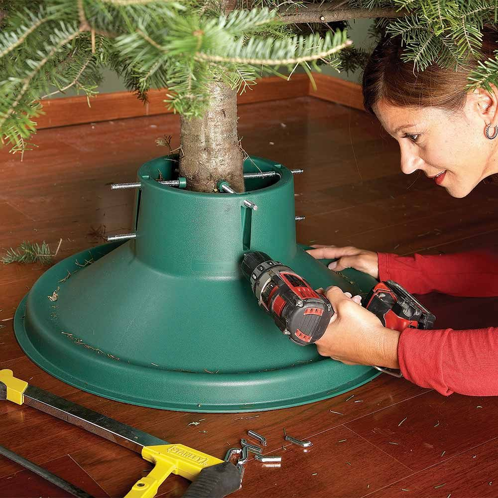 christmas tree stand adjustment