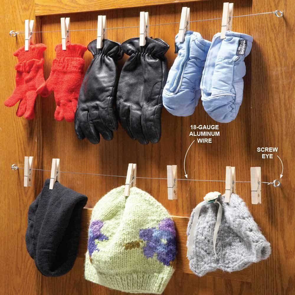 Closet Glove Rack