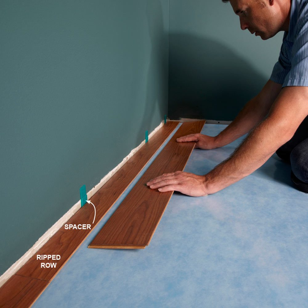 Get the First Row of Laminate Flooring Right
