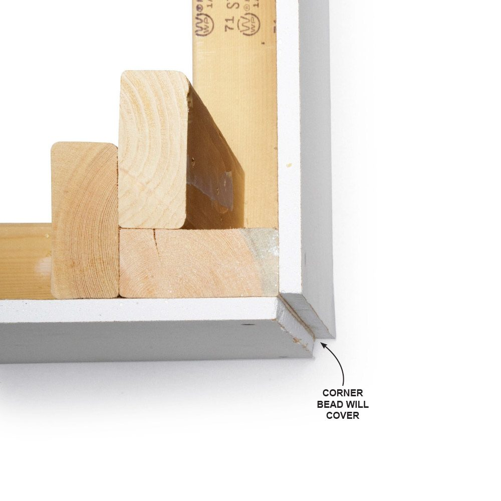 Cut Outside Corners Flush with the Framing