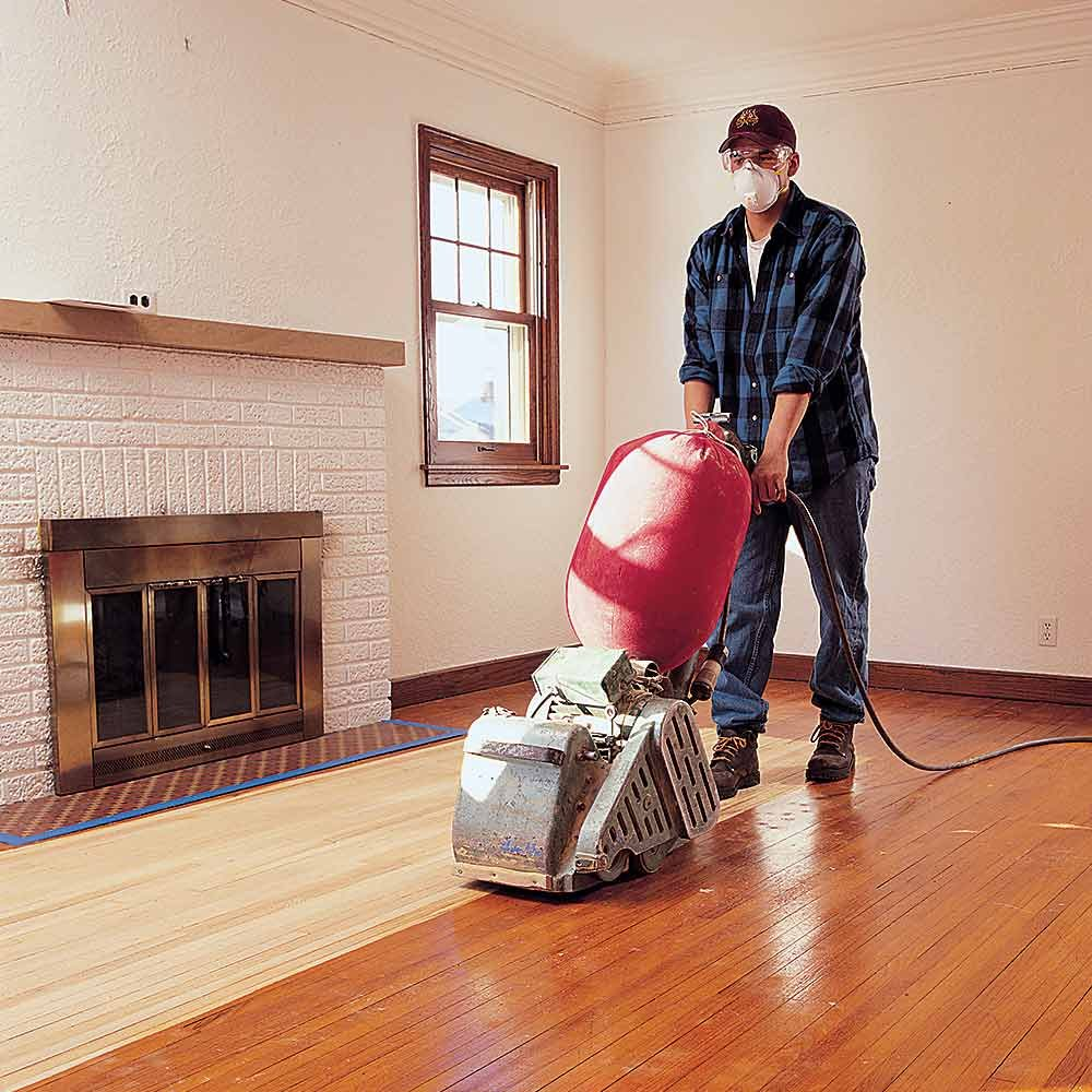 Flawless floor sanding the family handyman for Floor sanding courses