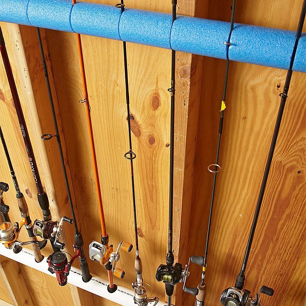16 camping hacks tips tricks you 39 ll wish you knew for Fishing rod organizer