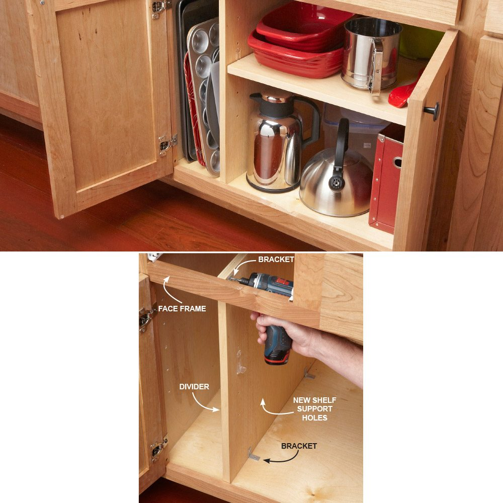 Add a Divider for Upright Storage