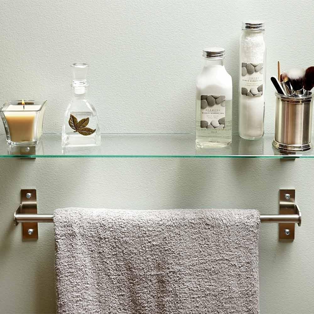 amusing bathroom floor towel rack   Clever and Useful Bathroom Storage Tips   The Family Handyman