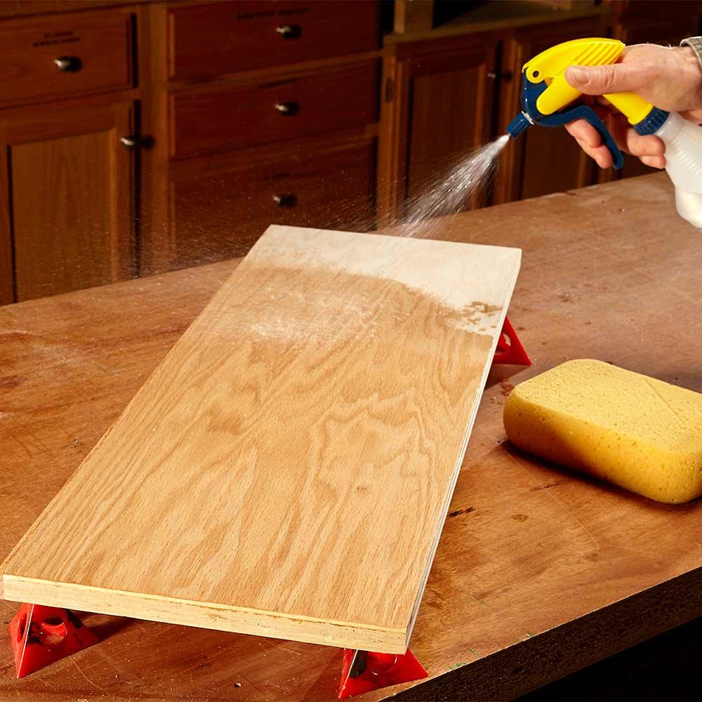 Mist Your Wood Before Staining