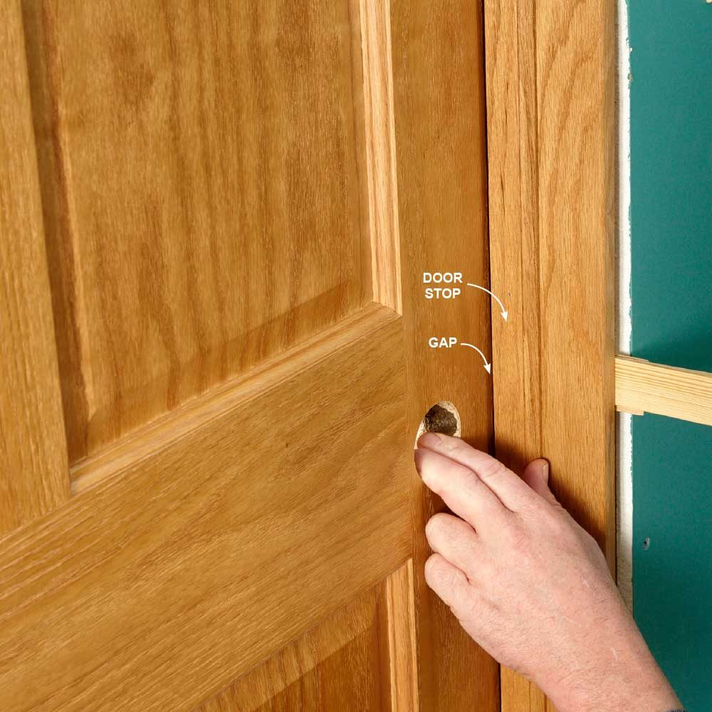 Check Gap at Door Stops