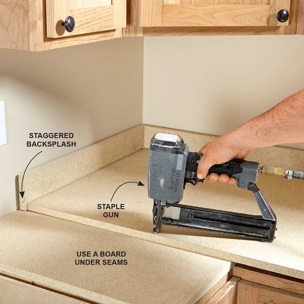 Uncategorized How To Install Kitchen Countertop installing laminate countertops the family handyman