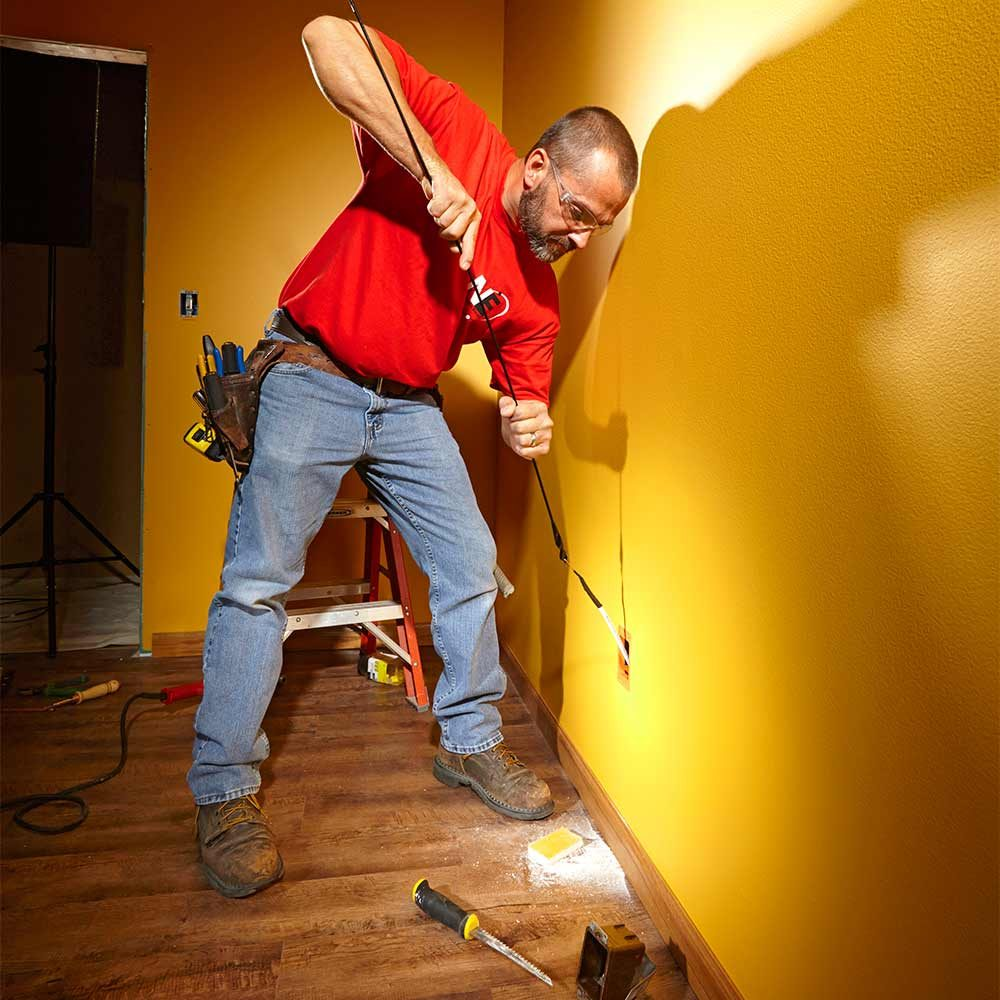 electrical wiring the family handyman fishing electrical wire through walls