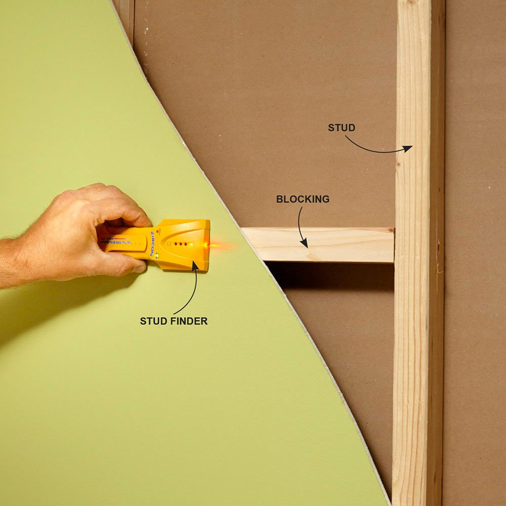 Check the Whole Wall Cavity With a Stud Finder