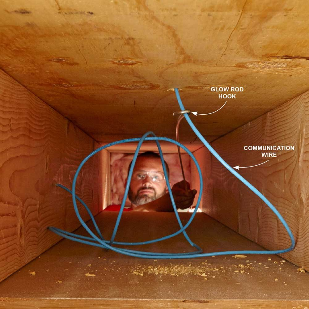 fishing electrical wire through walls ceiling | Nakedsnakepress.com
