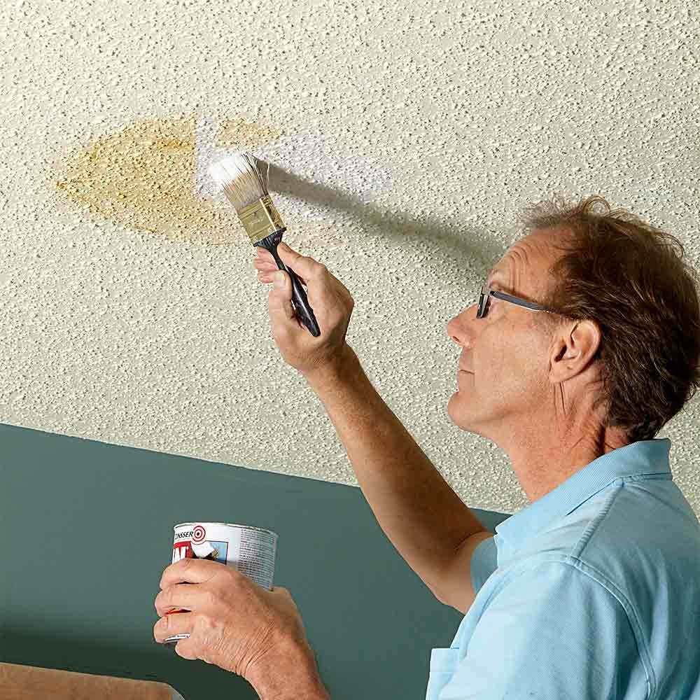 How to paint a ceiling the family handyman What kind of paint to use on ceiling
