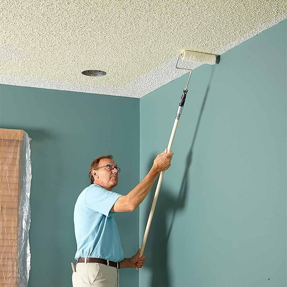 how to paint a ceiling the family handyman ForTips For Painting Ceiling