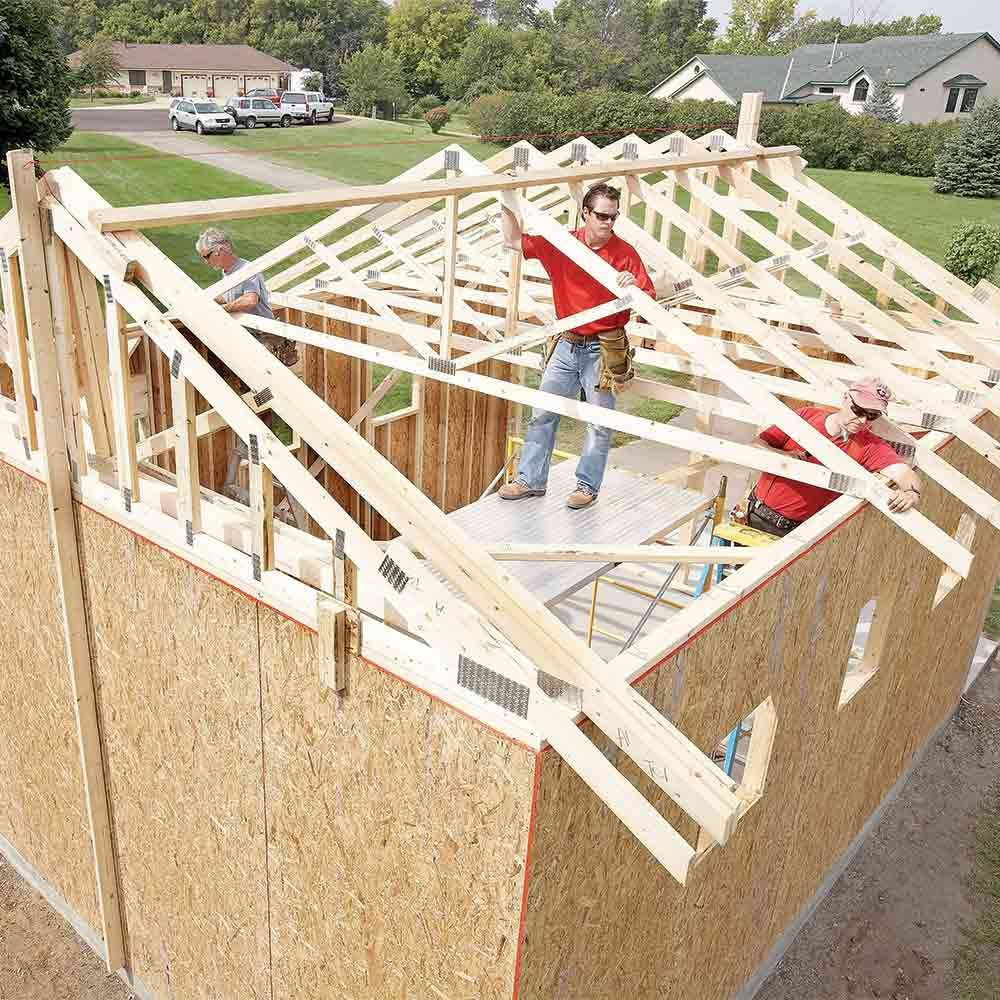 All Con Build Storage Shed Trusses