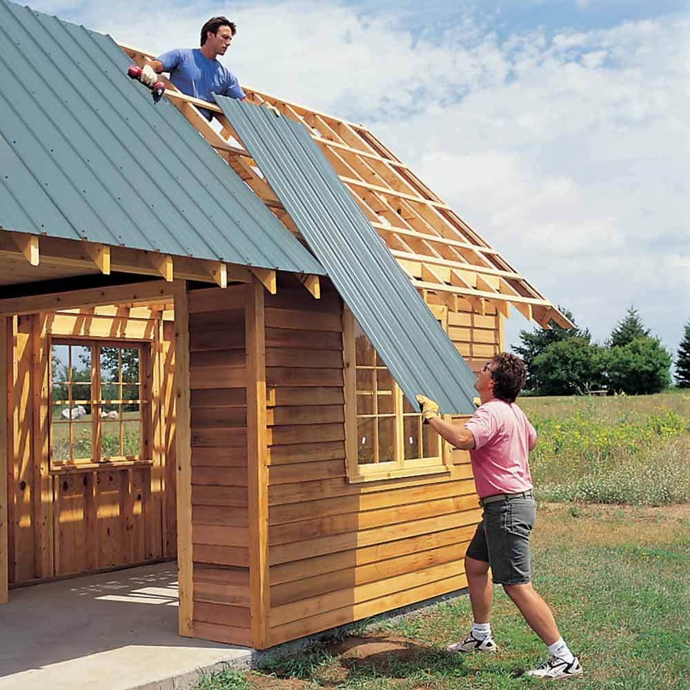 Diy storage shed building tips the family handyman for How to start building a house