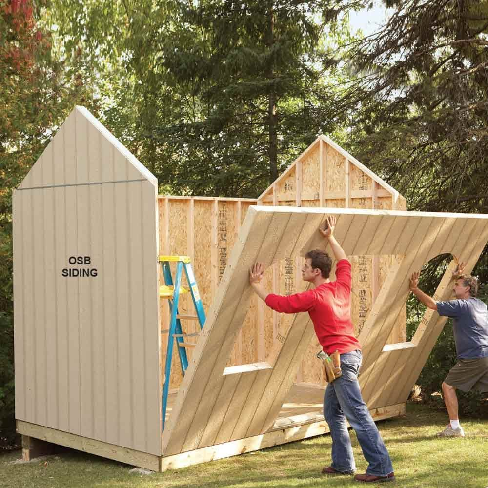 Shed plans storage shed plans the family handyman for Building a storage shed