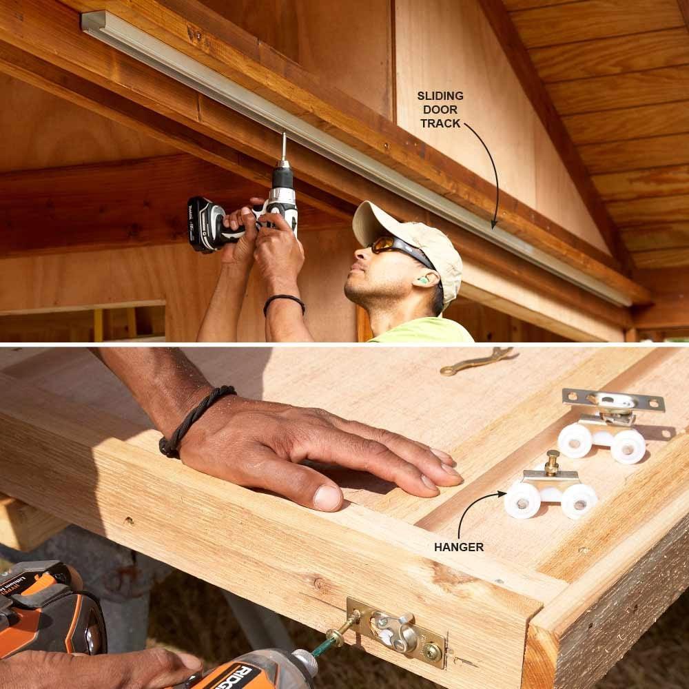 Closet Door Hardware for Sliding Shed Doors