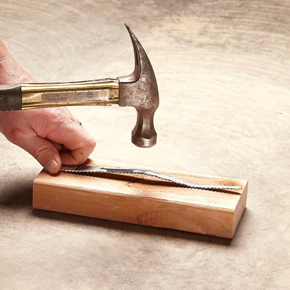 Pound Out a Bent Blade