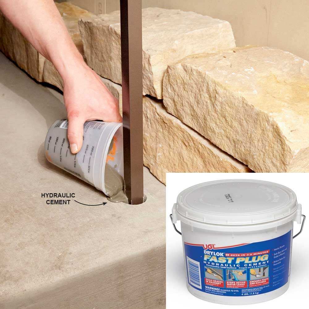 Hydraulic Cement Prevents Cracking