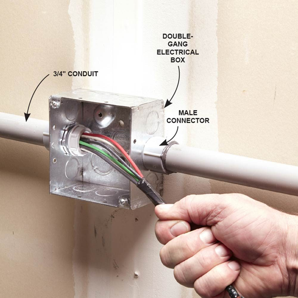 Use Larger PVC Conduit and Electrical Boxes