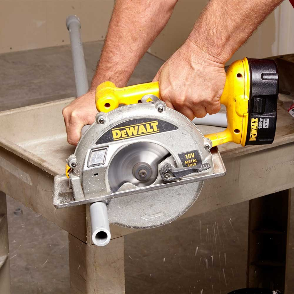 Cut PVC Conduit with a Circular Saw