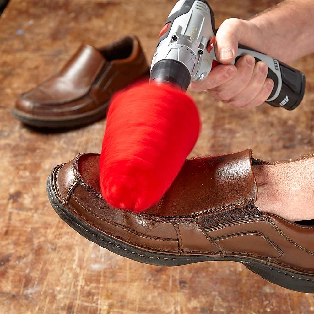 Shine Shoes with a Drill