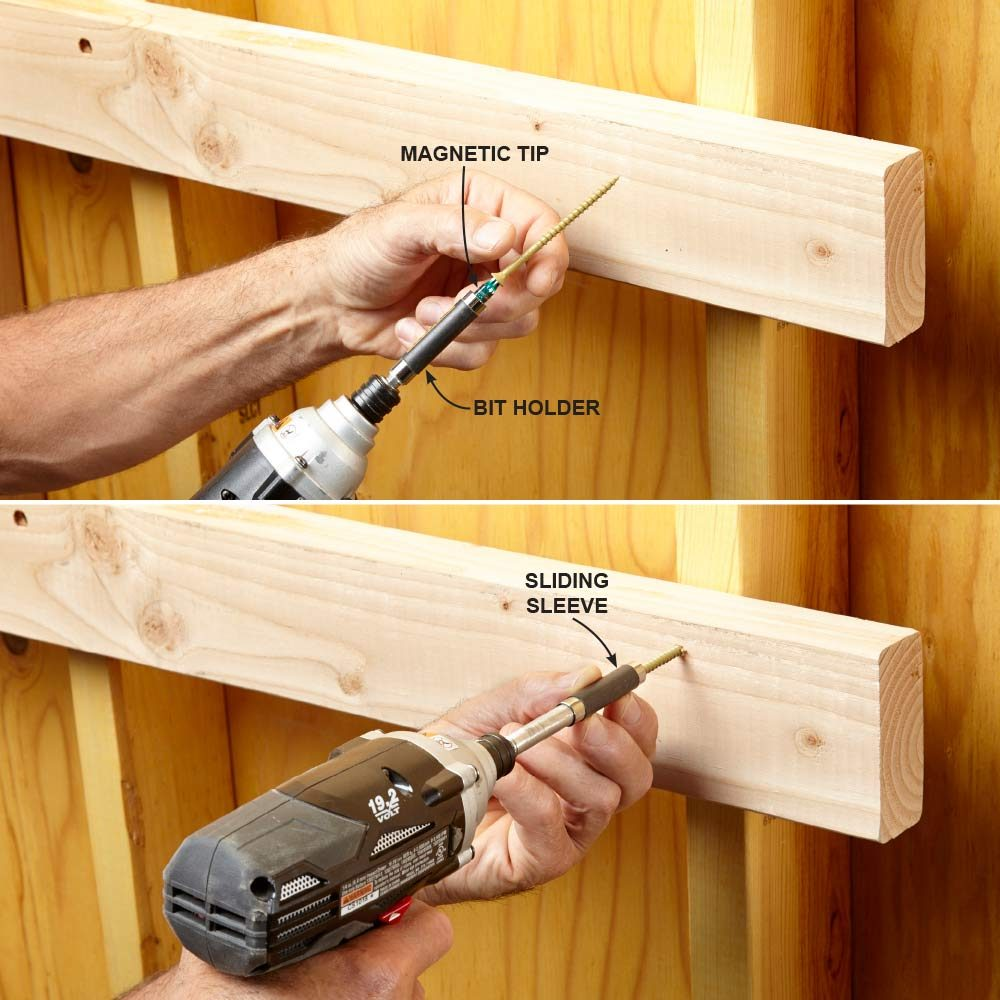 Use a Magnetic Bit-Tip Holder