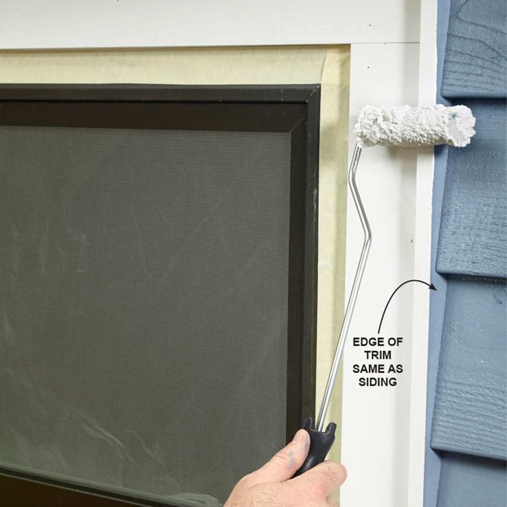 Spray the Edge of the Trim the Same Color as the Wall