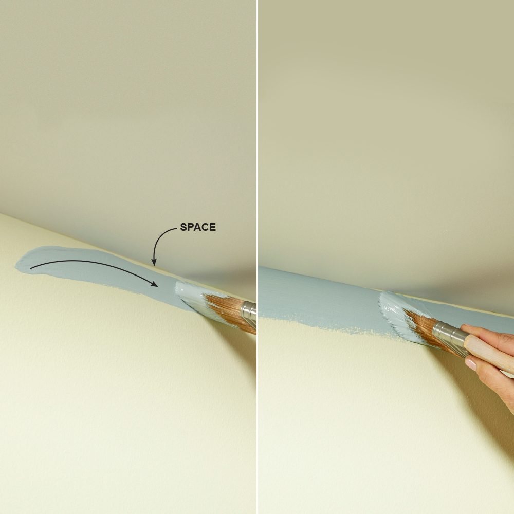 The best tips for cutting in paint the family handyman for Tips for painting ceiling